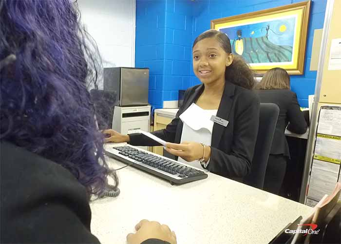 Capital One student banker