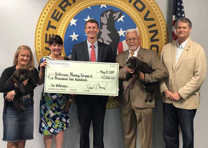 Freedom Bank veteran donation