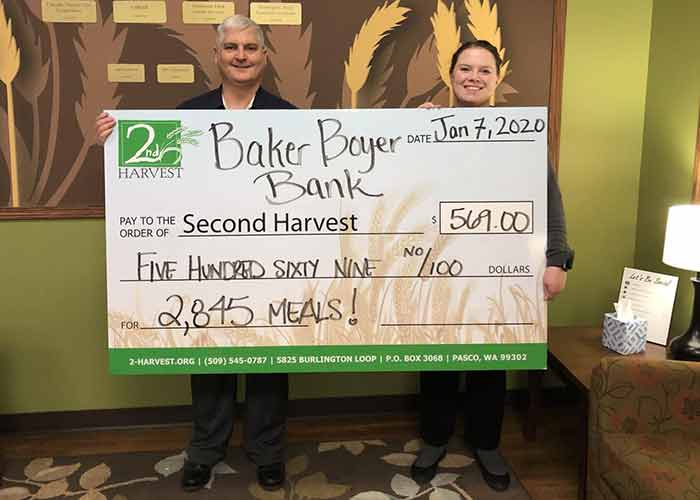 Baker Boyer Bank Donation